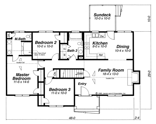 Floor Plan image of DICKENS-A House Plan