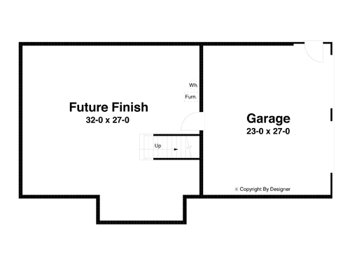 Lower Level image of DICKENS-A House Plan