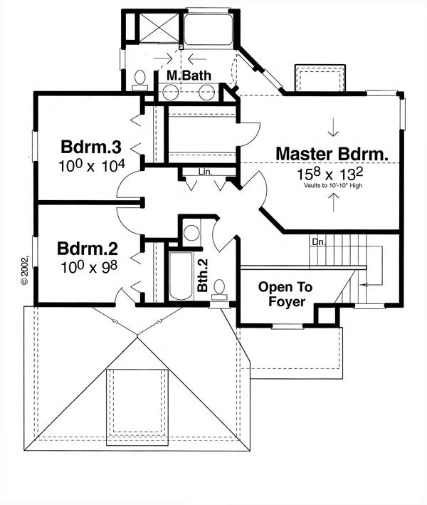 Second Floor image of Highlands House Plan