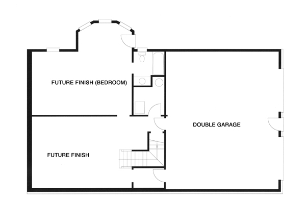 Lower Level image of WOODROW House Plan