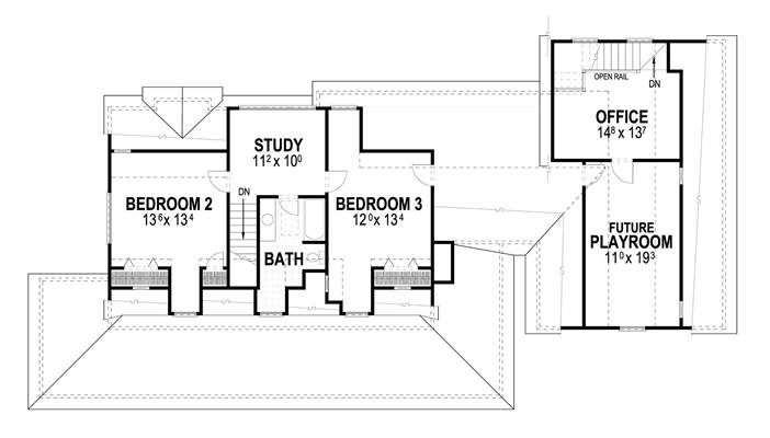 Second Floor image of Countryfield II House Plan