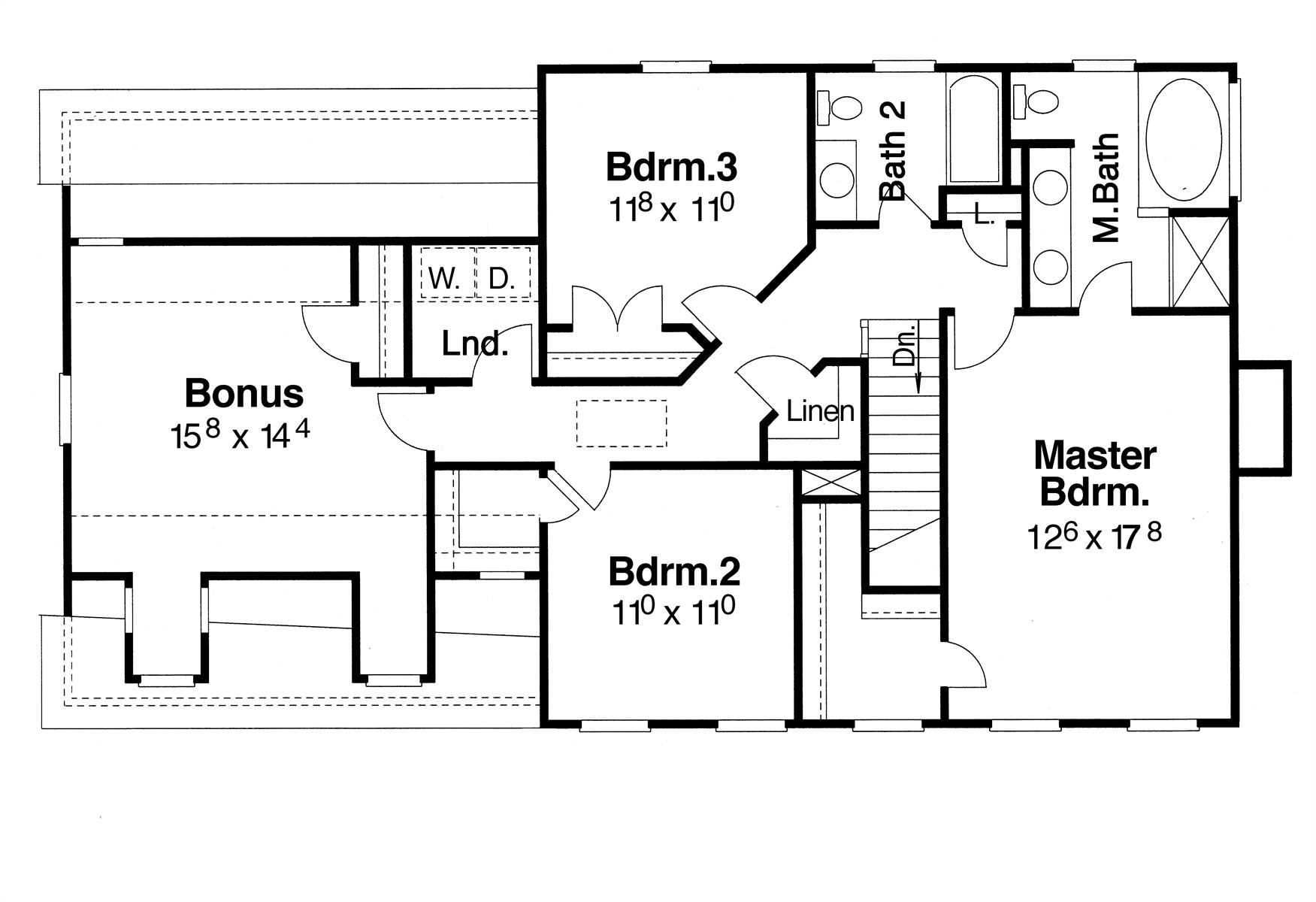 Second Floor image of Morgan-B House Plan